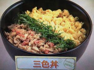 上沼恵美子のおしゃべりクッキング 三色丼