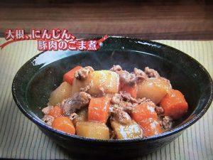 【キューピー3分クッキング】大根、にんじん、豚肉のごま煮 レシピ