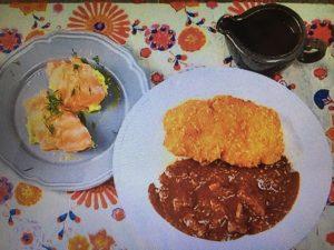 男子ごはん レシピ!大人のメンチカツカレー&サーモンとアボカドのタルタル