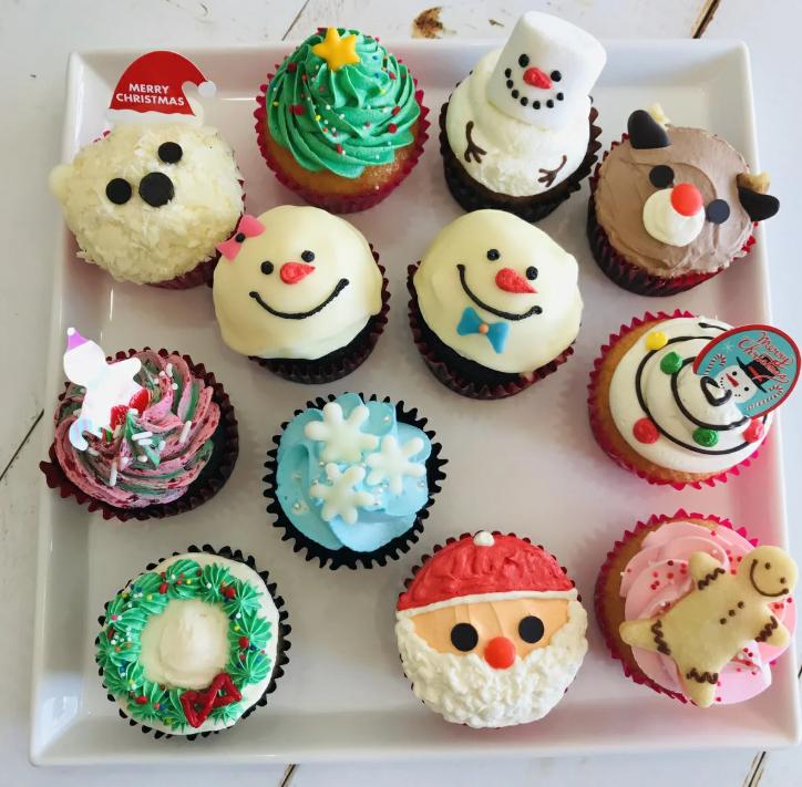 クリスマス カップケーキ 通販 画像