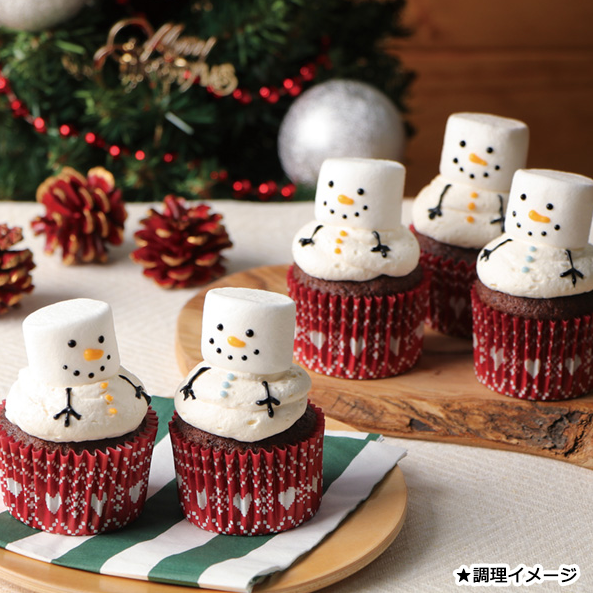 クリスマス カップケーキ キット 画像