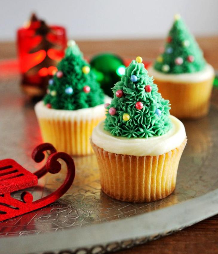 クリスマス カップケーキ クリスマスツリー 画像