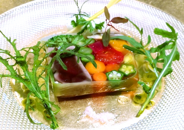 野菜のキラキラ寄せ レシピ。インスタ映えする料理。