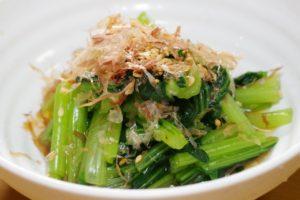 冷凍小松菜のおひたし レシピ。解凍なしで食べれる方法。