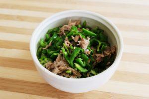 ツナマヨピーマンの作り方。ツナ缶で作るレンチン無限レシピ。