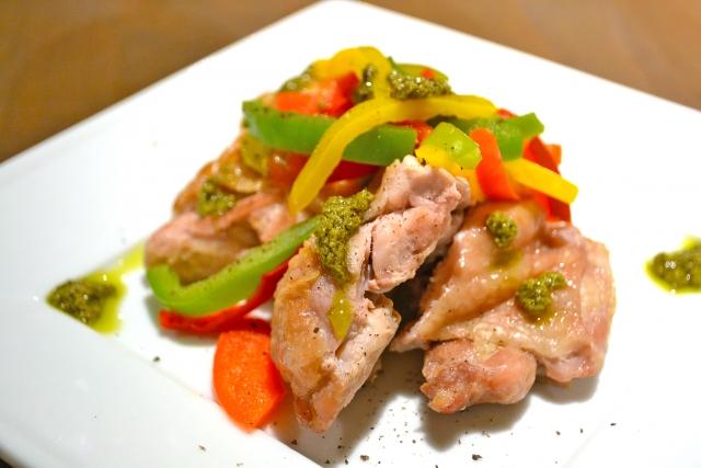 スッキリ ガパオチキンソテー レシピ 画像