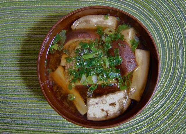 男子ごはん ナスの梅肉スープ レシピ 画像