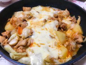 レンジでチン!チーズタッカルビの作り方。簡単仕込みごはんレシピ。