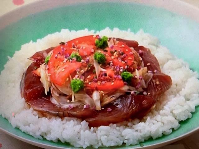 あさイチ 香味野菜とかつおのばら寿司 レシピ 画像