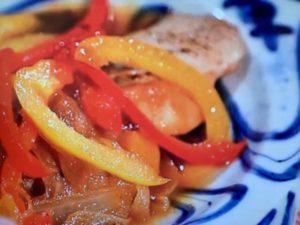 家政婦のマコ 秋鮭のカラフル野菜梨ソース レシピ 画像