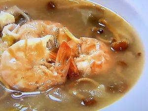 えびときのこの黒酢スープ レシピ。ATSUSHIの美腸スープ。