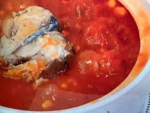 サバとトマトの洋風小鍋 画像