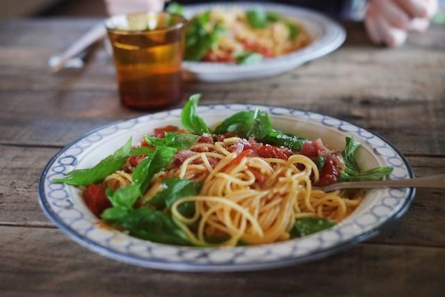 トマトとバジルの冷製パスタ レシピ 画像