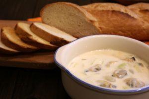 レンジで簡単!きのこチーズチャウダーの作り方。山本ゆりさんのレシピ。