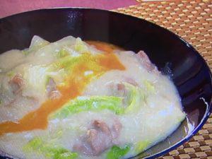 白菜 クリーム煮のレシピ。白菜のシャキシャキ感を残すポイント。