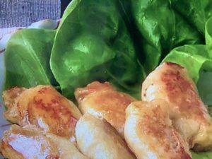 豚巻きれんこんもち レシピ。れんこんのもっちり食感が美味!