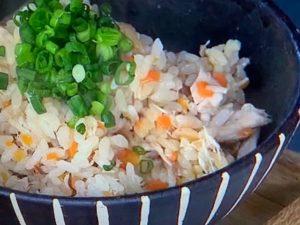 塩焼きブリの混ぜごはんレシピ。焼いてから混ぜるのがポイント。