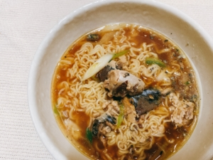 【ヒルナンデス】サバ缶の魚介ラーメン。リュウジさんのレシピ。