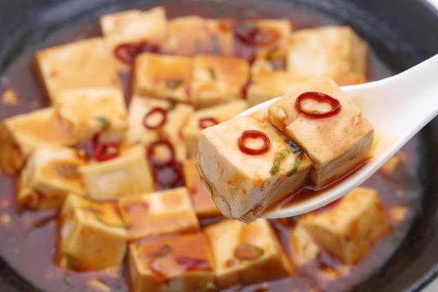 ミートソース アレンジレシピ 麻婆豆腐 画像