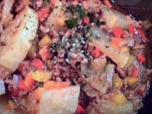 【家事ヤロウ】ひき肉のだし カレー煮込み。鈴木亜美さんのレシピ。