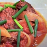 あさイチ ひき肉のバターしょうゆトマト煮 レシピ 画像