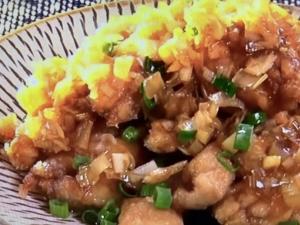 【土曜はナニする!?】鶏の唐揚げ ネギ酢醤油ダレ。山本ゆりさんのレシピ。